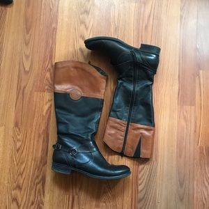 Remonte Brown and Black Knee High Boots - 42